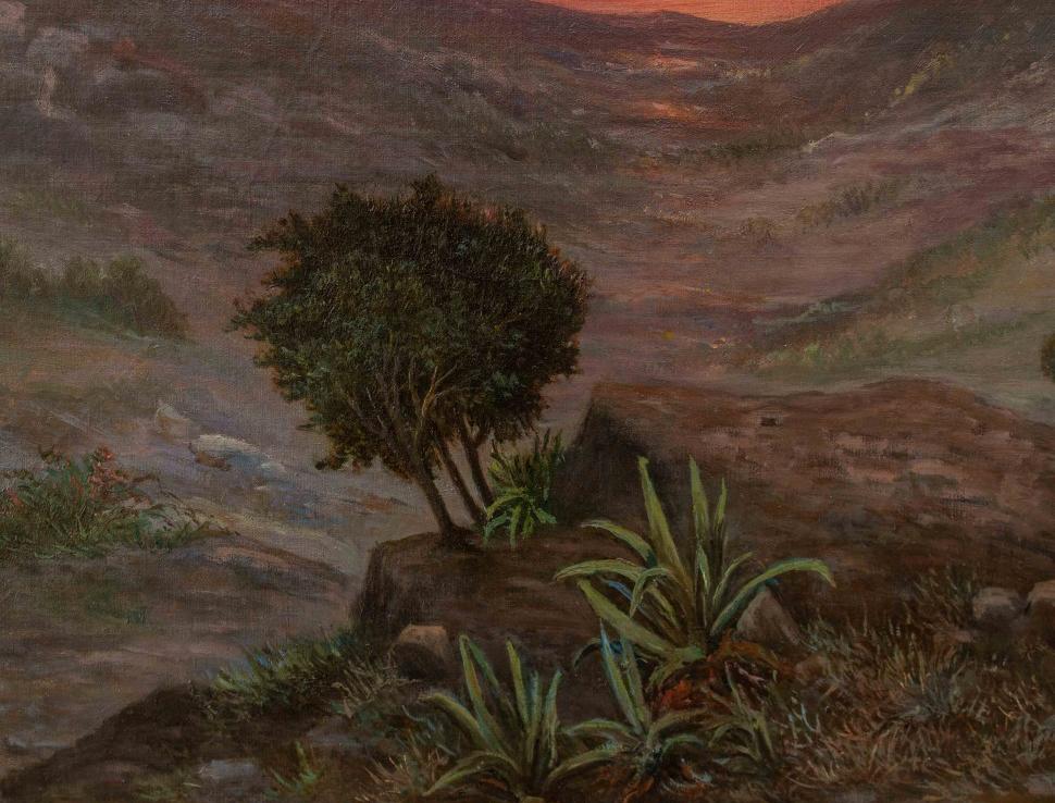 thumb6 Paesaggio al tramonto, XIX secolo