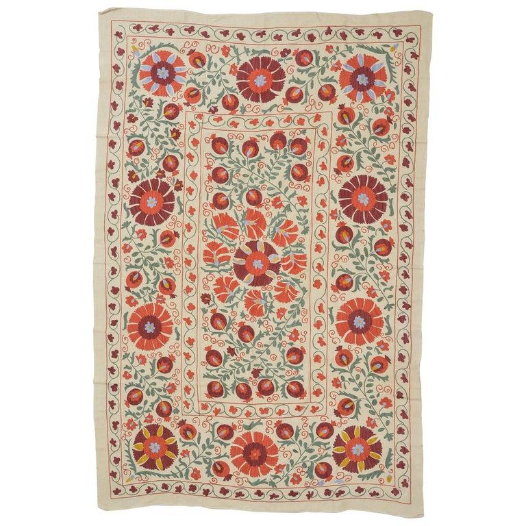 Tessuto SUSANI in cotone con ricamo in seta