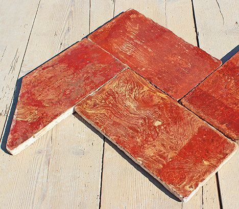 Autentico pavimento in cotto variegato lombardo