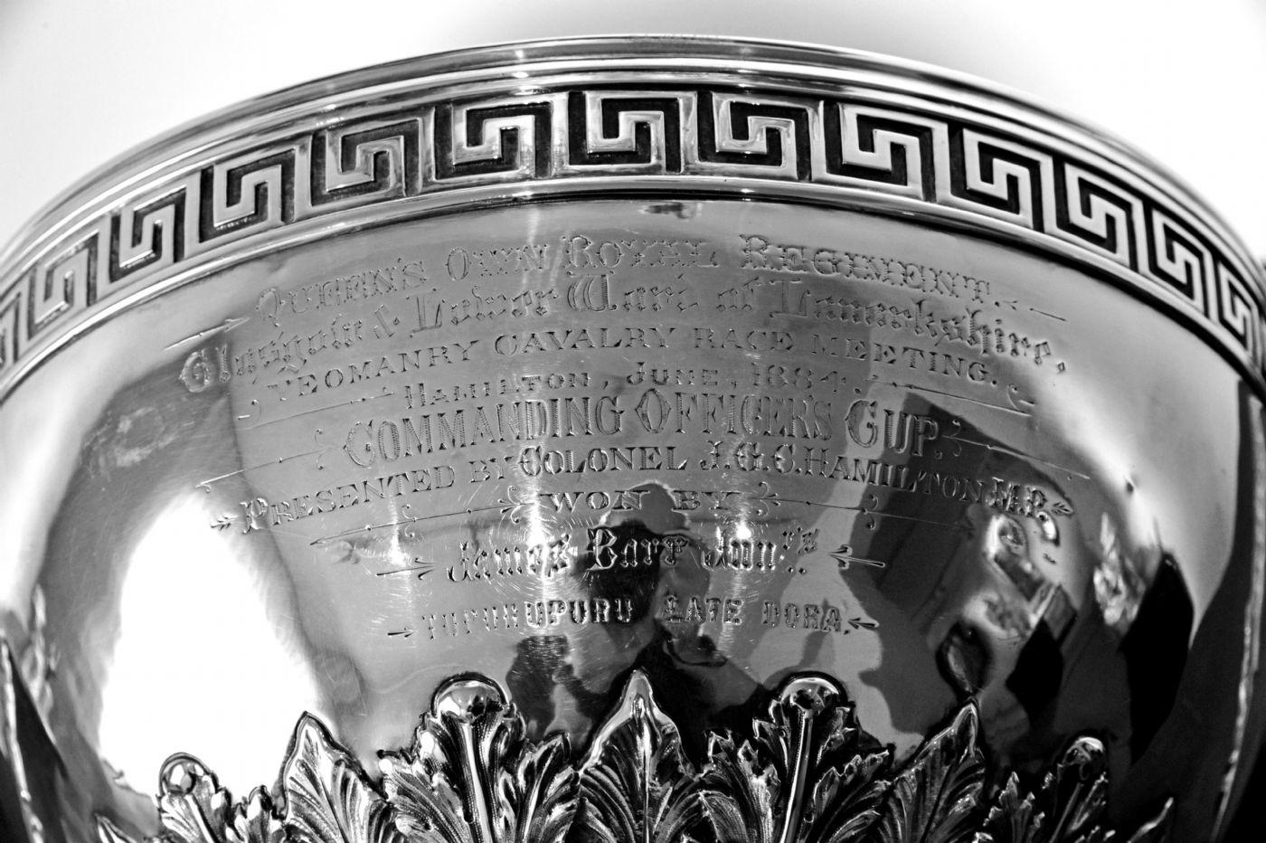 thumb4 Trofeo in argento inciso e datato 1884