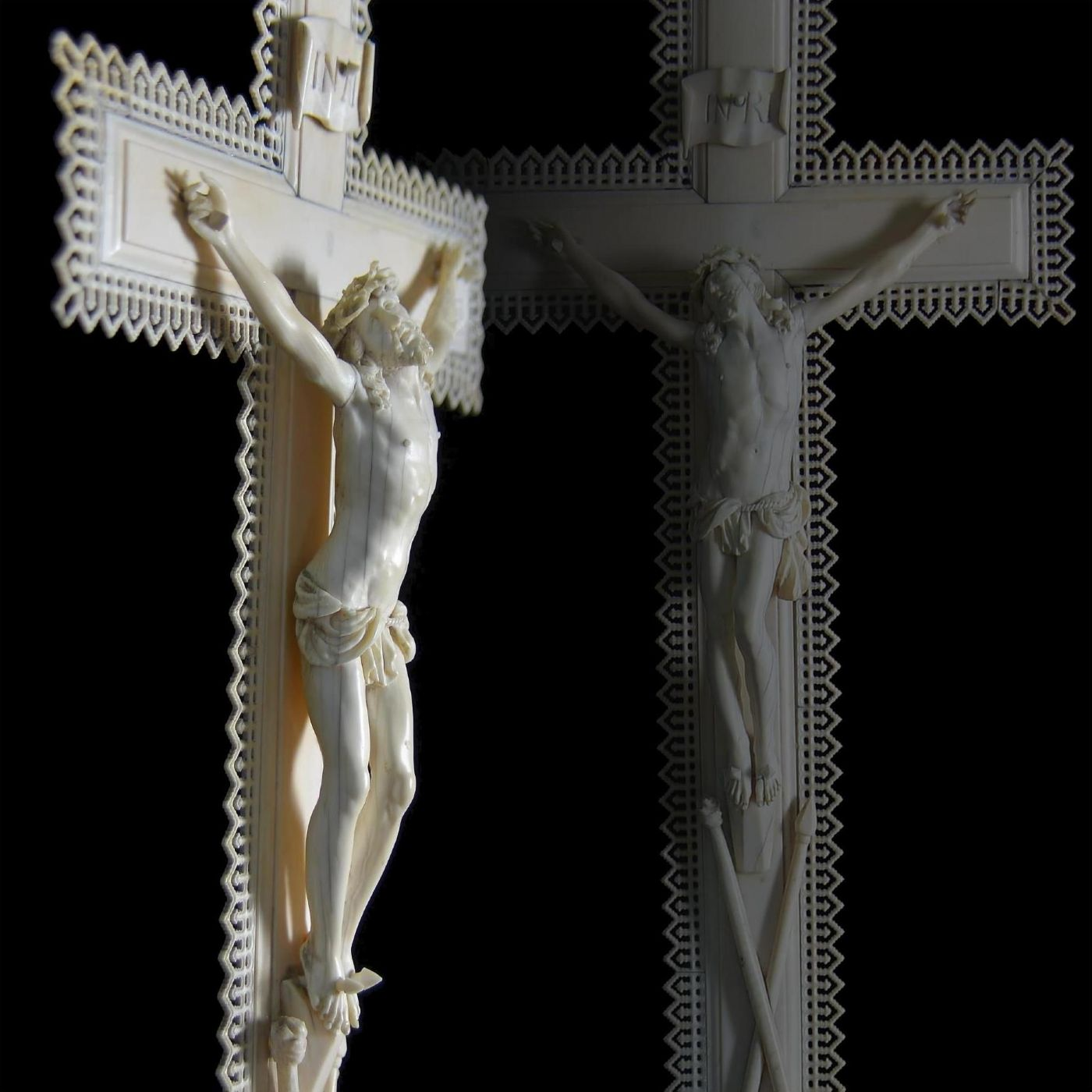 CROCEFISSIONE DEL CRISTO IN AVORIO, TOSCANA XVII SECOLO