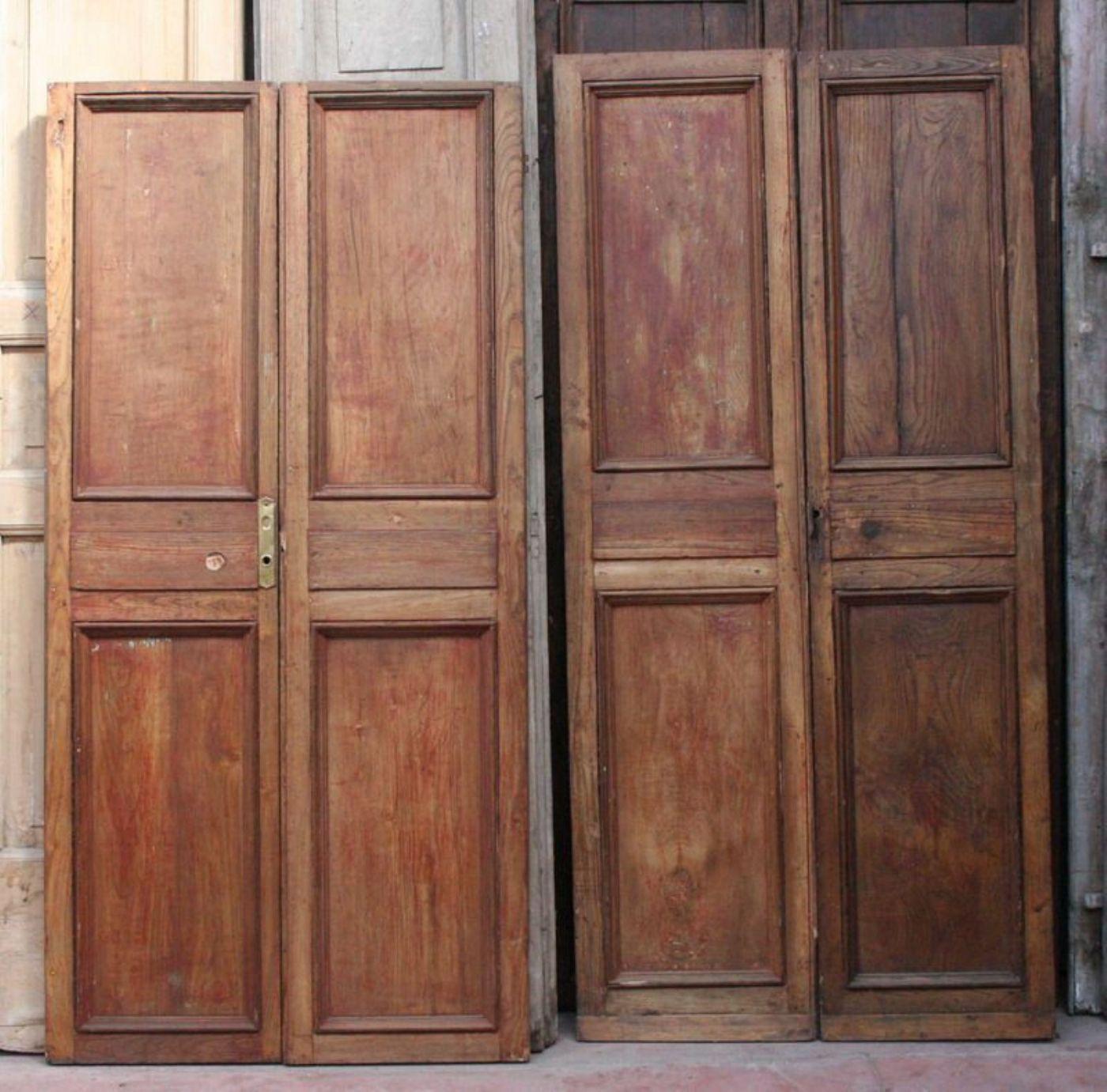 Foto Di Porte Antiche coppia di antiche porte in legno. epoca 1800. | antiquariato