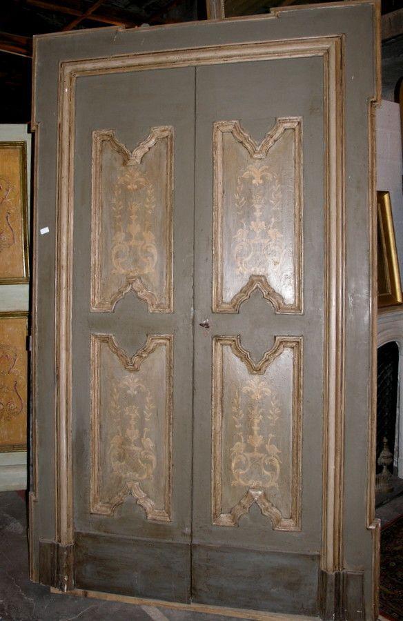 Ptl399 una porta epoca 39 600 laccata con cornice sagomata for Porta 240 cm