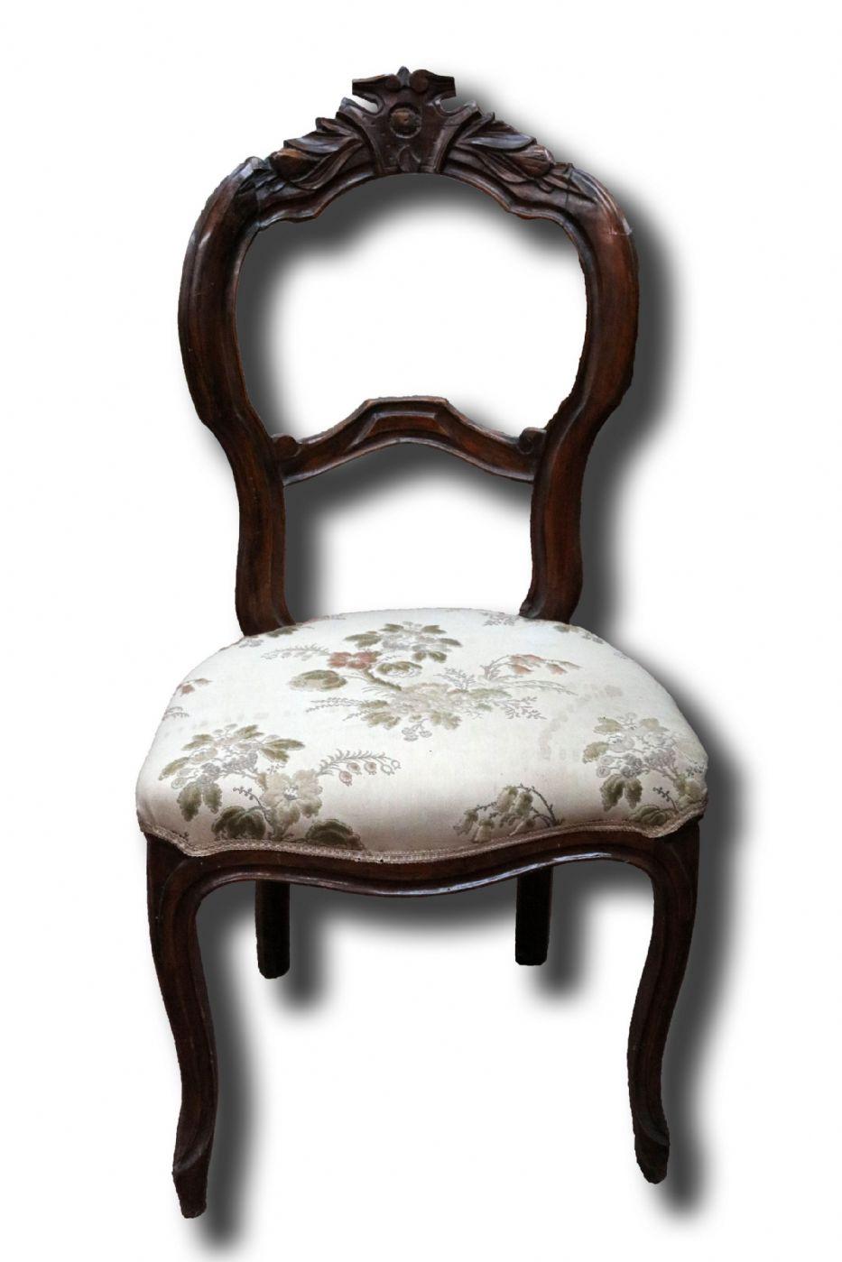 Sedia antica in legno. Epoca 1800. | Antiquariato su Anticoantico
