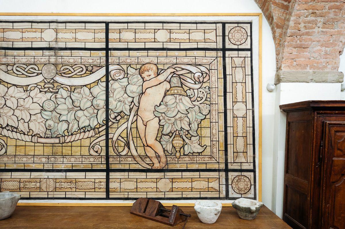 thumb2|Grande pannello decorativo tempera su carta Galileo Chini