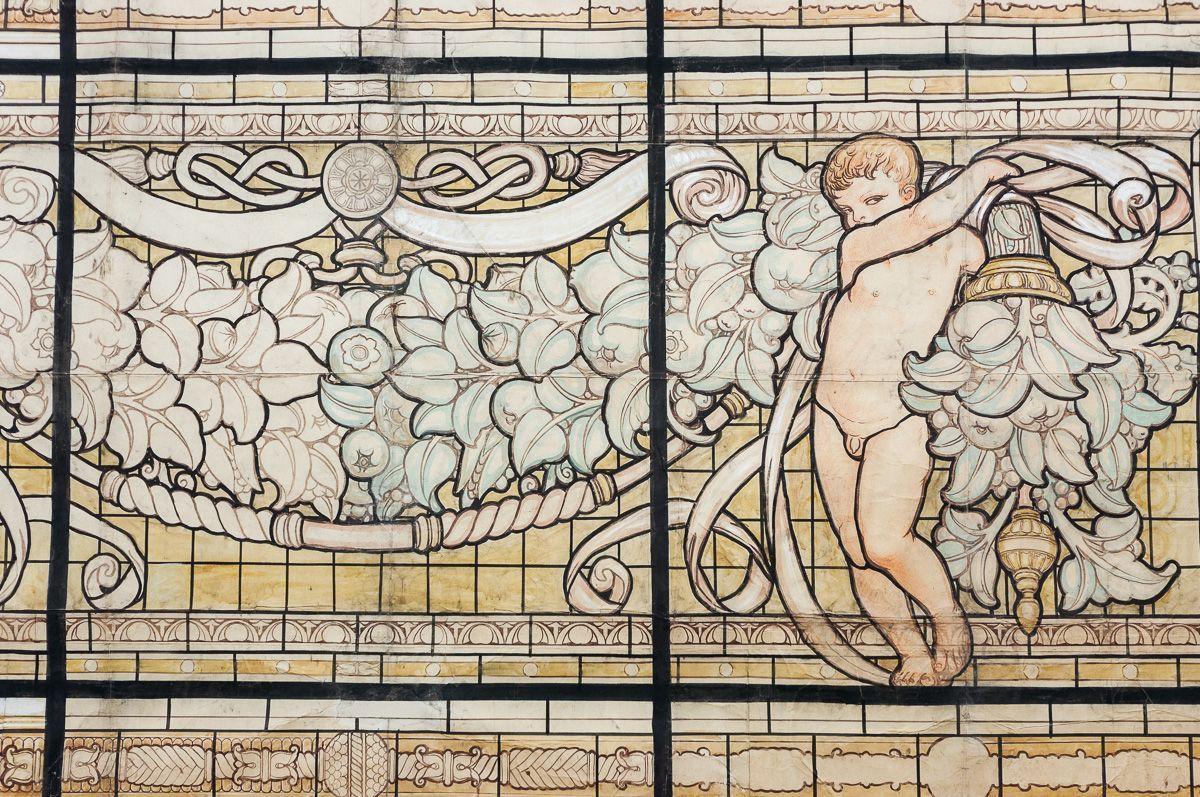 thumb3|Grande pannello decorativo tempera su carta Galileo Chini