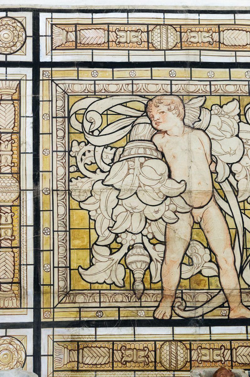 thumb4|Grande pannello decorativo tempera su carta Galileo Chini