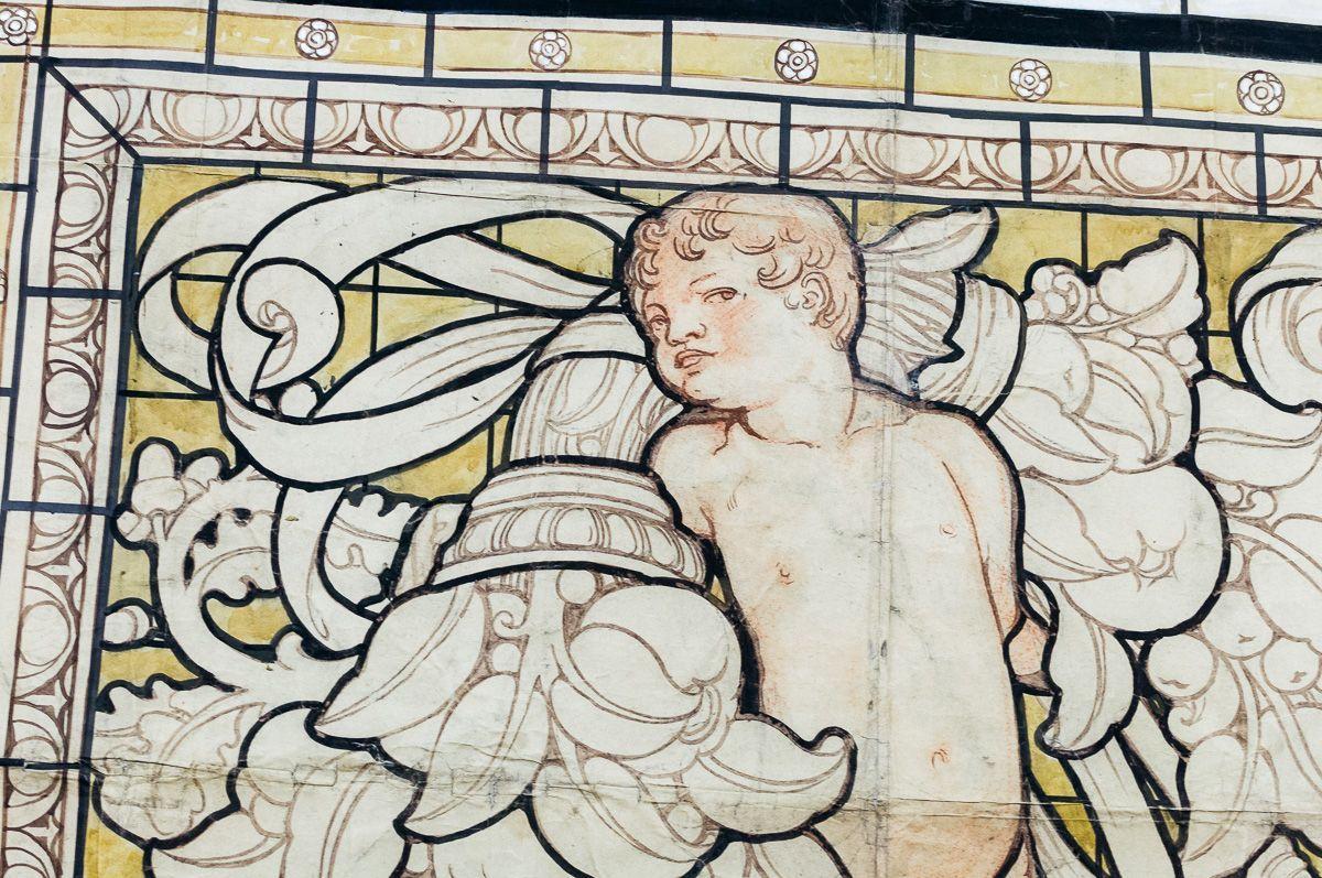 thumb5|Grande pannello decorativo tempera su carta Galileo Chini