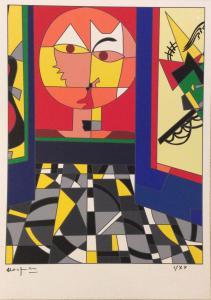 Ugo Nespolo - Klee - serigrafia polimaterica firmata e numerata.