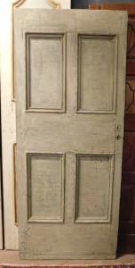 ptl552 - Lackierte Tür, 18. Jahrhundert, Größe cm L 82 x H 191 x Th. 4