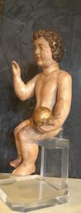 Skulptur, die den Segen Jesuskind darstellt, 500 Ära