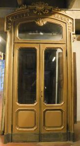 a pts673 - n. 4 puertas lacadas doradas, mis. luz cm 155 xh 330