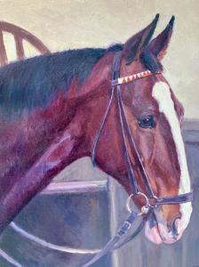动物画《汉诺威湾马-湾马》Helmut Bachrach Barée (1898-1969)
