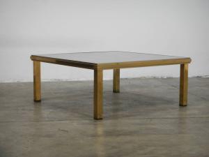 tavolino in ottone e vetro anni 60
