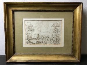 Disegno del '600 con attribuzione a Francesco Grimaldi