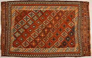Antiguo Kilim Kaskai o GASHGAI coleccionable