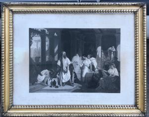Framed print depicting a biblical scene from Genesis.France.