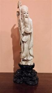 Statuette in ivory, oriental essay, late 19th century