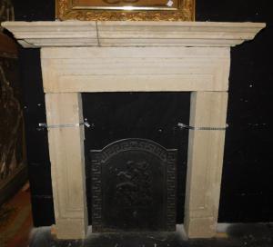 chp318 - stone fireplace, period '600, l 111 xh 112