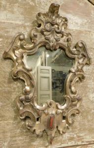 specc366 - specchiera argentata, epoca '700, misura cm l 38 x h 66