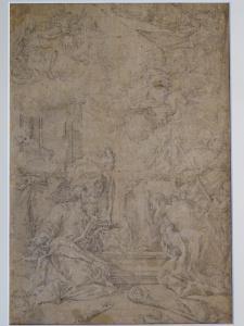 """纸上铅笔,""""假设"""",归功于 Sebastiano Ricci- 18 世纪初"""