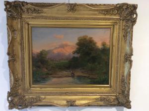 """Silvio Poma ( Trescore B.1840 - 1932 Turate) """" Paesaggio"""""""