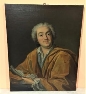 Dipinto olio su tela raffigurante Maximilien de Robespierre