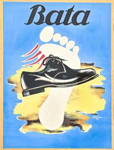 Pôster sapatos Bata, pôster sapatos Bata