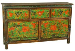 Cabinet tibetano, Periodo XIX sec. circa
