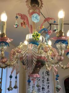 穆拉诺玻璃枝形吊灯,带 6 个火焰