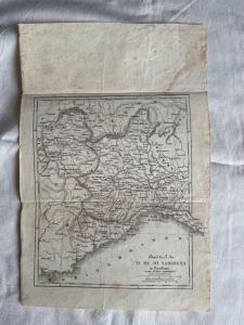 Serie von 8 geografischen Drucken-Karten der Kontinente und des Königreichs Sardinien