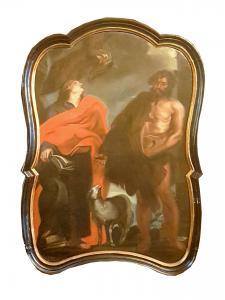 Древняя религиозная живопись XVIII века - постановка святых