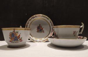 Coppia di tazze da te, porcellana, Inghilterra XIX secolo