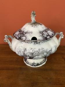 hand-painted ceramic tureen
