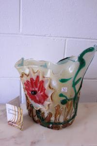 Муранская стеклянная ваза, подписанная художником Серджио Костантини с сертификатом.