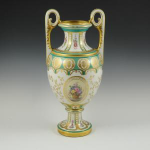 Vase with floral decoration and gilding Manifattura Ginori, Doccia (Florence), 1920s