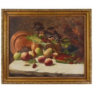 Натюрморт с фруктами и медной тарелкой