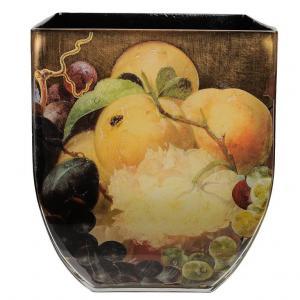 树脂和金箔大碗或方形花瓶