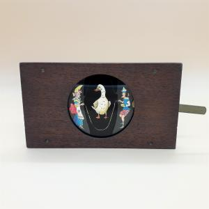 Mechanical plate for ancient magic lantern