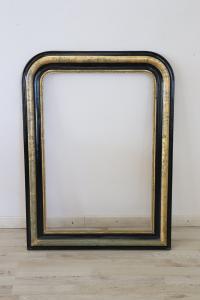 Gran marco ebonizado y hoja de oro Louis Philippe período mitad 1800 Sec. XIX euro 500 tratable