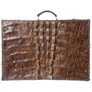Antica valigia in coccodrillo