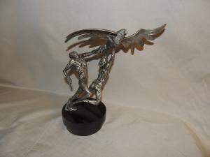 silver sculpture, 'Trophy of Peace' by Laura Cretara