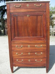 secretaire in legno di mogano dell' '800