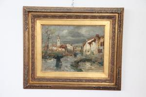 Dipinto antico firmato Eugenio Gignous (1850-1906) pittore Milanese Sec. XIX PREZZO TRATTABILE