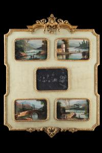 Frame with paintings