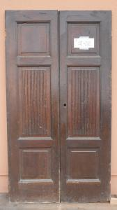 DOOR WITH TWO DOORS IN WALNUT MASSELLO '800 PANEL PORTONI WITH 111x202 N3