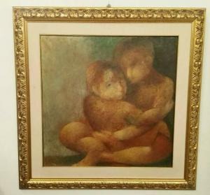Pintura al óleo sobre lienzo Sebastiano Sanguigni (Infancia)