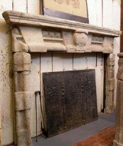 chp136 stone fireplace with coat mis. h 174 x W. 240 max
