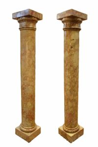 Pair of ancient marble columns. Period 1800.