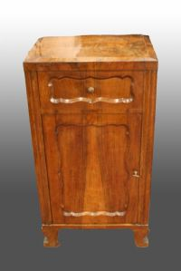 Antique wooden bedside table. Late 1800s.